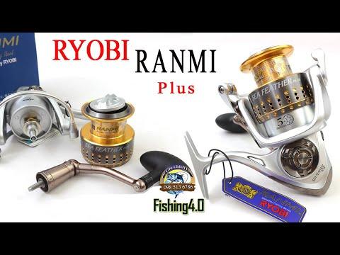 Máy Câu Ryobi Ranmi Plus New 2020 - Cốt Trợ Lực - Tay Quay Rời Khóa Ren 2 Vòng