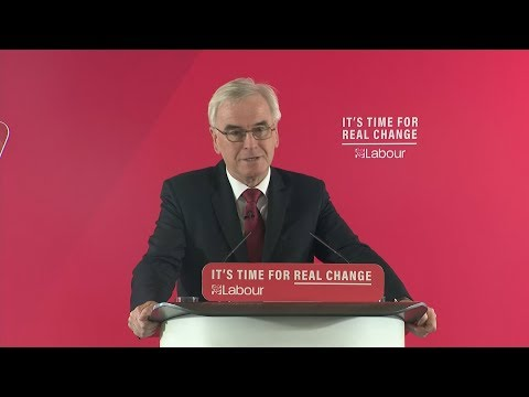 Campaign Live: John McDonnell lays out Labour's first 100 days if elected | ITV News