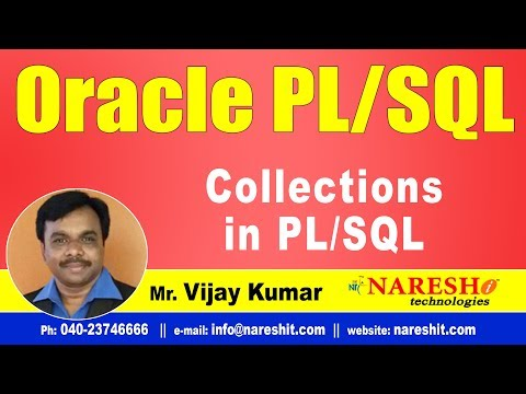 Collections in PL/SQL | Oracle PL/SQL Tutorial Videos | Mr.Vijay Kumar