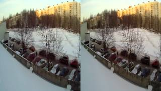 preview picture of video 'AEE Magicam 3D vs DJI NAZA-flight in city'