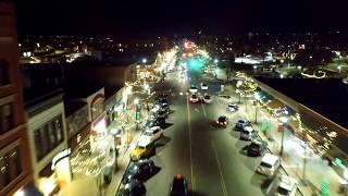 Colorado Springs after dark ( 4k drone video)
