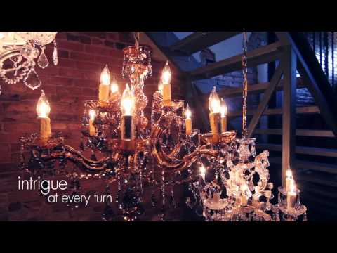 Video for Brentwood Polished Chrome Maria Theresa Chandelier with Clear Swarovski Strass Crystal and with Antique White Shade.