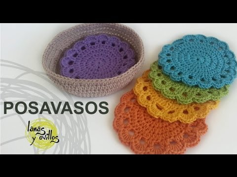 Tutorial Posavasos Crochet o Ganchillo (Coasters)