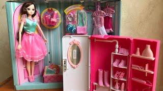 BÚP BÊ MẮT THUỶ TINH, TỦ QUẦN ÁO BÚP BÊ 2 TRONG 1 - Baby doll fashion (Chim Xinh)