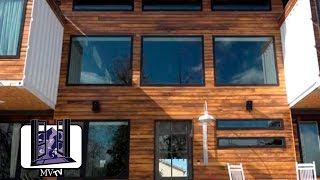 MVTV - Shipping Container Home: Entry Door