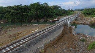 Begini Kondisi Tanah Timbunan Rel KA Barru yang Terkikis Akibat Banjir Bandang