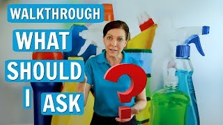 Questions to Ask on a Walkthrough (House Cleaning Job Estimate)