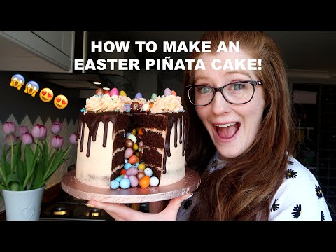 How to make an Easter Piñata Cake! | Jane's Patisserie