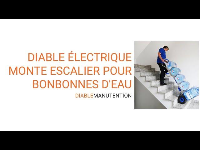 Vidéo diable électrique porte bonbonne d'eau