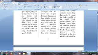 how to Insert page number, column number and drop cap in ms word