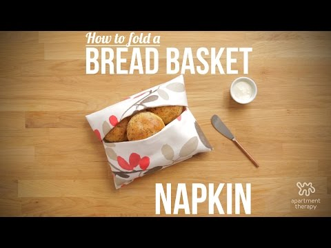 Turn A Napkin Into A Basket In A Pinch