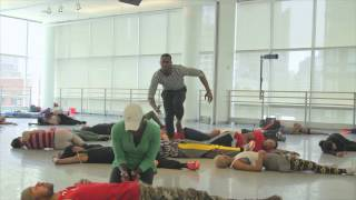 Rennie on the making of EXODUS on Alvin Ailey American Dance Theater (behind the scenes) part 1