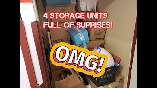 I bought 4 Storage units for $20!