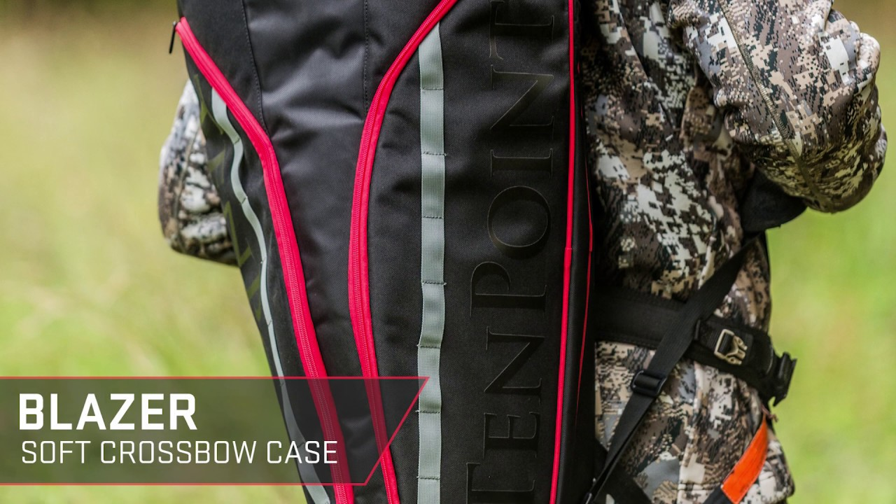 """Designed for optimal protection and durability, the new Blazer soft case is built with everything you need to protect and transport your crossbow. Lightweight and rugged, the water-resistant case features a foam-padded interior with a hook and loop strap to secure the crossbow during travel, as well as two external zippered pockets and one internal zippered pocket for accessory storage. Its side-mounted rubber grip handle and top nylon handle provide easy transportation and storage. In addition, the case features two padded quick-release straps that can be used individually for """"sling-style"""" carrying or together for """"backpack style"""" carrying, as well as Molle straps on the exterior pockets and backpack straps allow hunters and shooters to attach additional accessories."""