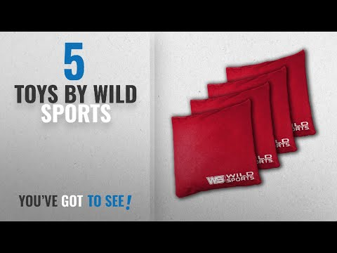 Top 10 Wild Sports Toys [2018]: Wild Sports Authentic Cornhole Bean Bag (4 Pack), Red