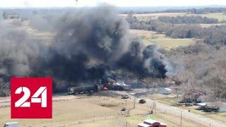 Wypadek w Teksasie: ciężarówka i pociąg towarowy zderzyły się na przejeździe kolejowym.