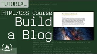 HTML/CSS Tutorial - Build a Beautiful Blog