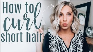 How To Curl Short Hair | Voluminous Messy Curls