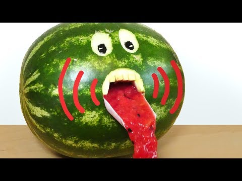 A Great Watermelon Juice Party Trick