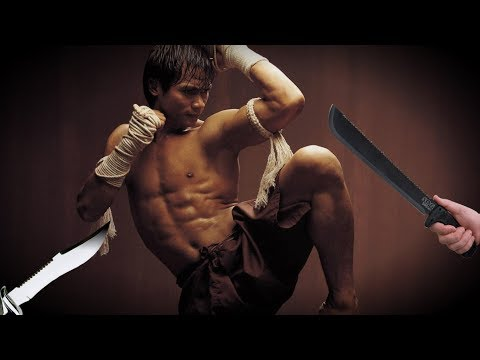 muay thai self defense against knife and machete attacks
