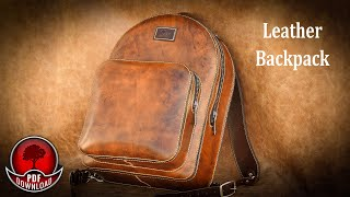Leather Backpack Video Tutorial  Pattern / DIY