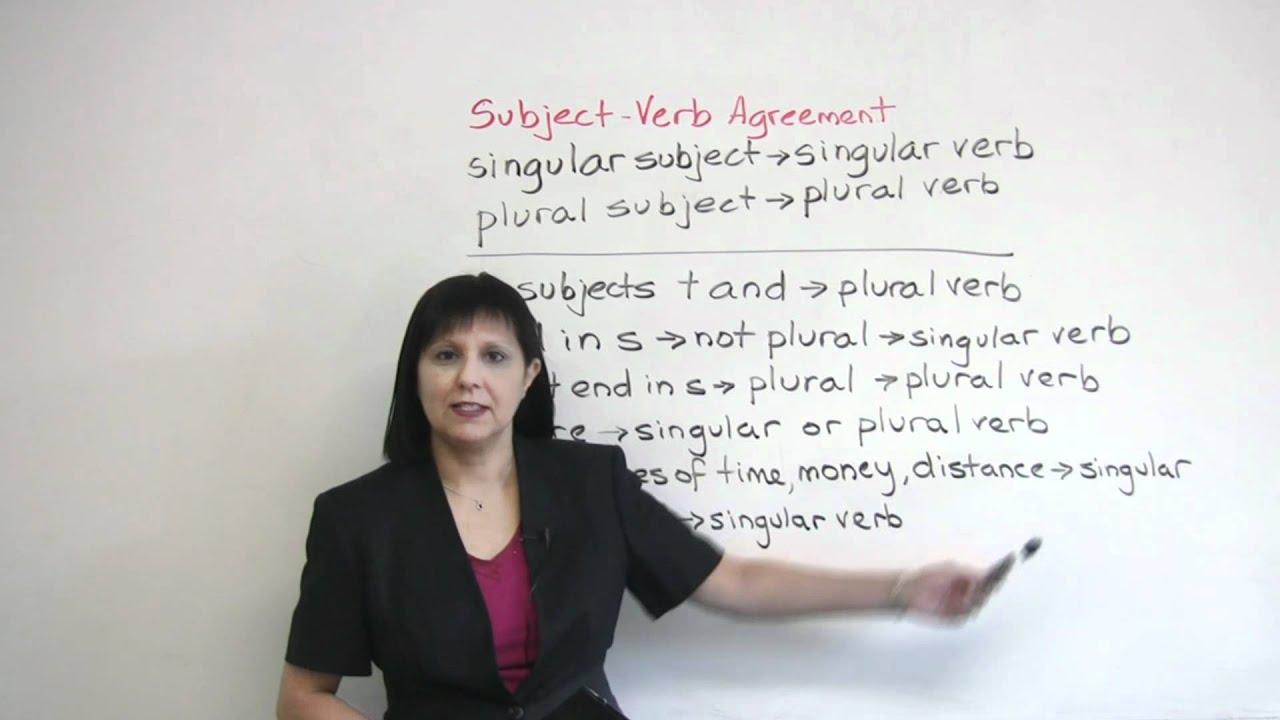 Singular Or Plural Subject Verb Agreement In English Grammar Engvid