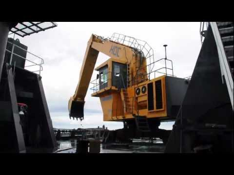 Harbour Dredging with HDC (Hakan Dredging Company) P10 Dredger