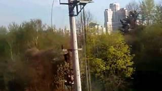 Москва. Электричка аэропорт Домодедово - Павелецкий