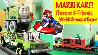 Thomas & Friends Mario Kart - World's Strongest Engine Toy Train Fun