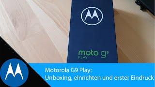 Motorola G9 Play: Unboxing, einrichten und erster Eindruck