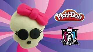play doh monster high skullette - how to make with playdoh