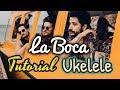 Cómo tocar LA BOCA:  Mau & Ricky, Camilo: Tutorial Ukelele con Acordes (Fácil)