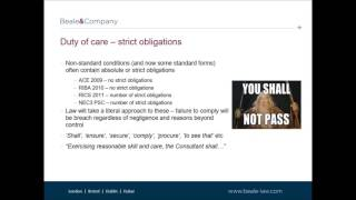 Beale & Company - Construction Law Update: Consultants - Is Your Duty Of Care Under Attack
