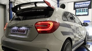 Mercedes A45 AMG RENNtech tuned STAGE 1 development dyno Prüfstand rolling road