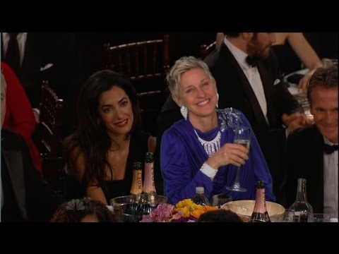 Ellen at the Golden Globes