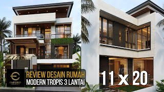 Video Mr. Budi Modern House 3 Floors Design - Jakarta Utara