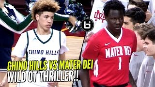 Chino Hills vs Bol Bol & Mater Dei!! Overtime Thriller & WILD ENDING In Front of 10,250 People!!