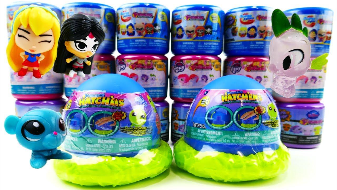 HUGE HAUL! Tech4Kids HatchEms Mashems Fashems Surprise Egg My Little Pony LPS Super Hero Girls