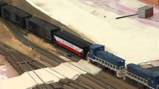 Model Railroad: How To Model A Road Crossing.  Make realistic model train layouts!