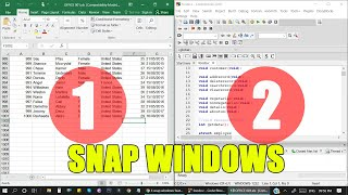 Windows Management Trick: How to place Two windows side-by-side | Snap Windows Feature