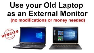 How to Use your Old Laptop as an External Monitor
