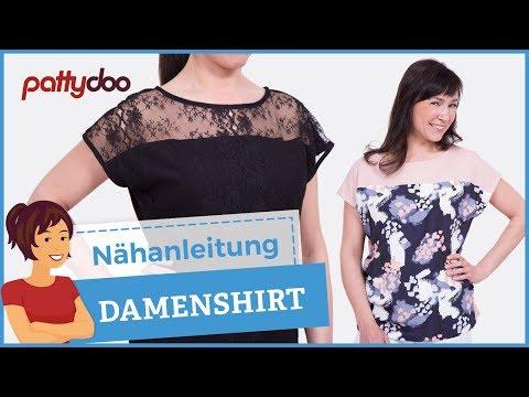 """Easy Damenshirt aus Jersey und Blusenstoff nähen - Ausschnitt """"auf die feine Art"""""""