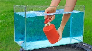 Experiment: Fire Extinguisher Under Water