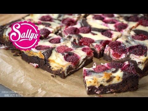 Cheesecake Brownies / Käsekuchen Brownies mit Himbeeren