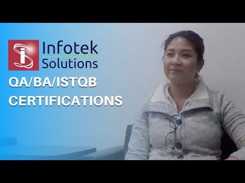 Infotek Solutions Help Me In Achieving QA/BA/ISTQB Certification ...