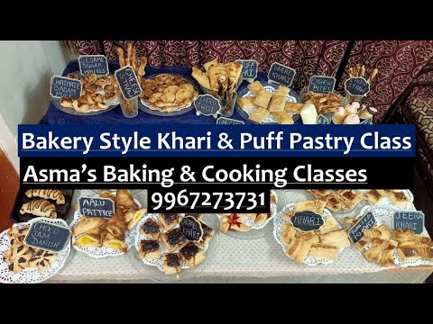 Online Bakery Style Khari & Puff Pastry Class | By Asma's Baking & Cooking Classes