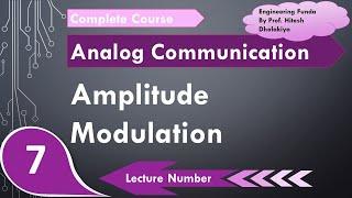 Amplitude Modulation Definition, basics & Derivation, Communication Engineering by Engineering Funda