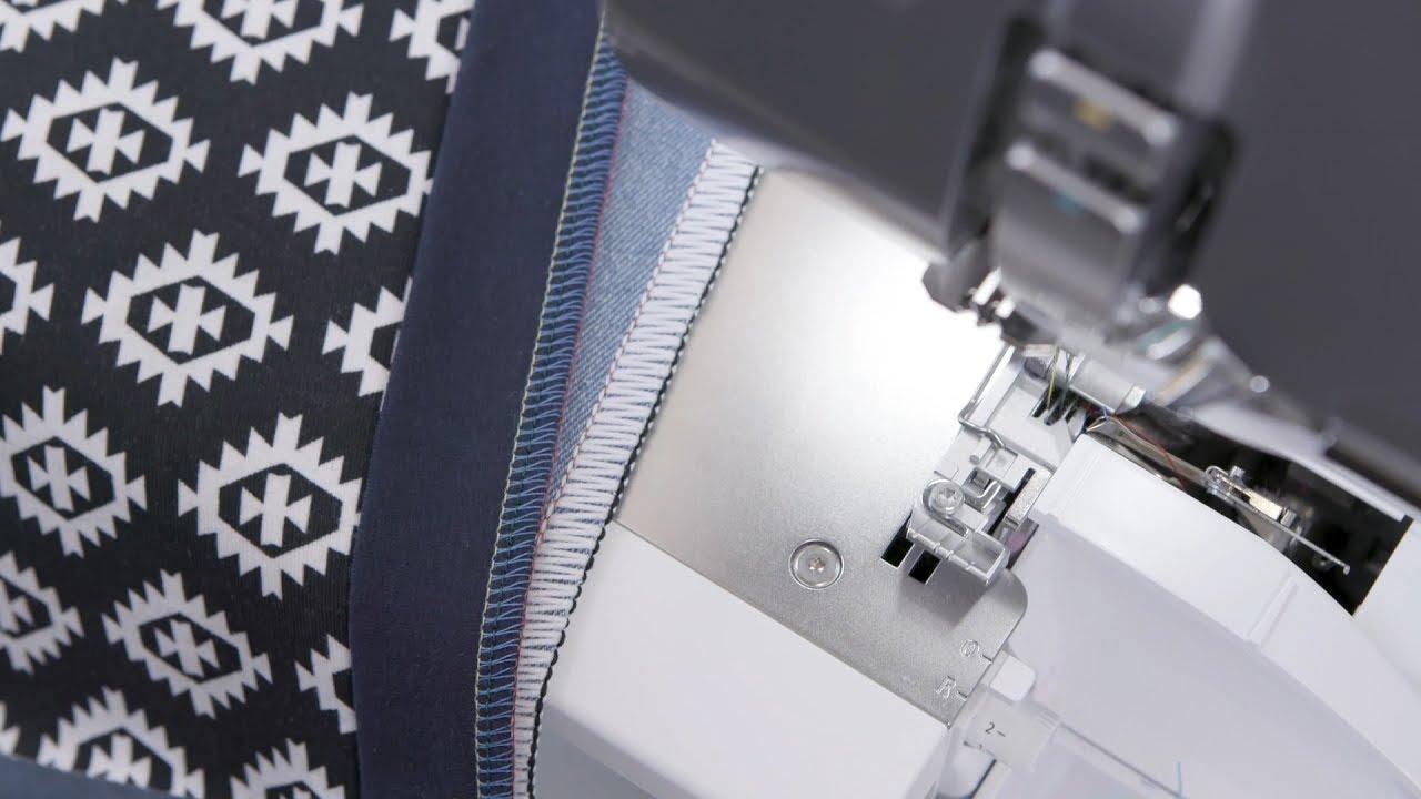 Surjeteuse BERNINA L850: piquer des coutures extensibles et surfiler les bords avec une surjeteuse à 4 et 3 fils