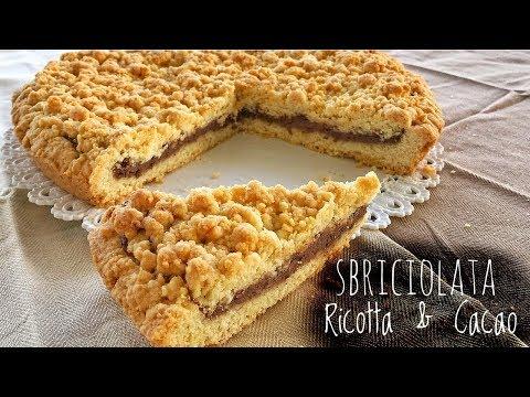CROSTATA SBRICIOLATA RICOTTA E CACAO Ricetta Facile -  Ricotta & Cocoa Crumble Pie Easy Recipe