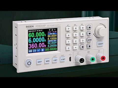 RIDEN RD6006P: конвертер напряжения на 60V/6A/360W. Высокая точность и низкий уровень пульсаций